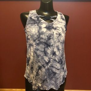 Maurices blue and white tie die tank top